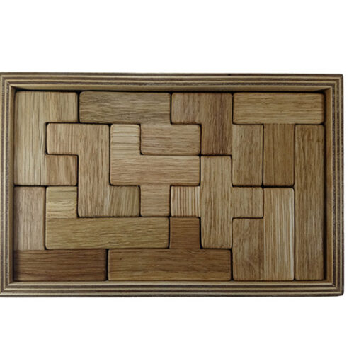 wooden pentomino puzzle