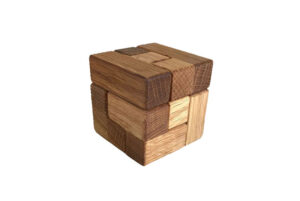 wooden soma cube puzzle