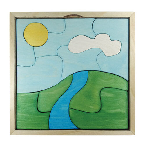 wooden valley puzzle for kids