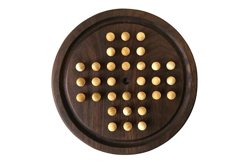 wooden solitaire - walnut