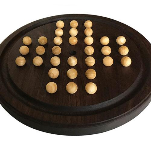 wooden solitaire boardgame - walnut